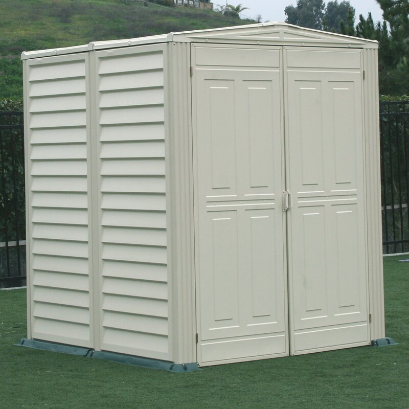 Garden Sheds Vinyl duramax yardmate vinyl shed 5 ft. 6 in. w x 5 ft. 6 in. d plastic