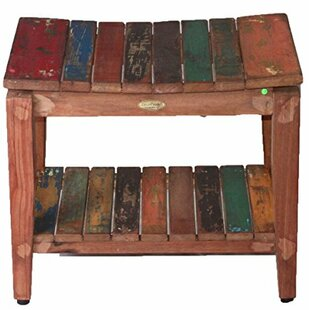 EcoDecors Recycled Salvaged Reclaimed Boat Wood Indoor Outdoor Bench