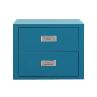 Stack 19.7 Metal 2 Drawer Storage Cabinet