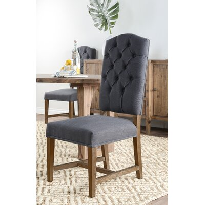 Lark Manor Nymphea Upholstered Dining Chair (Set of 2) Colour: Charcoal