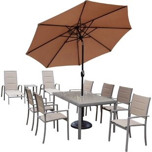 Oakland Living Padded Sling 9 Piece Dining Set