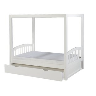 Oakwood Twin Canopy Bed with Trundle by Harriet Bee