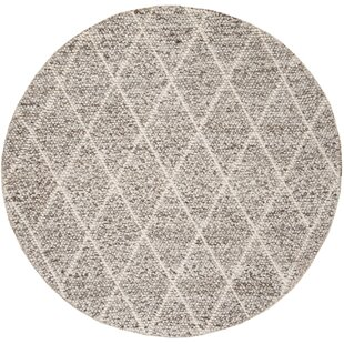 Billie Hand-Tufted Wool/Cotton Ivory/Stone Area Rug by Laurel Foundry Modern Farmhouse