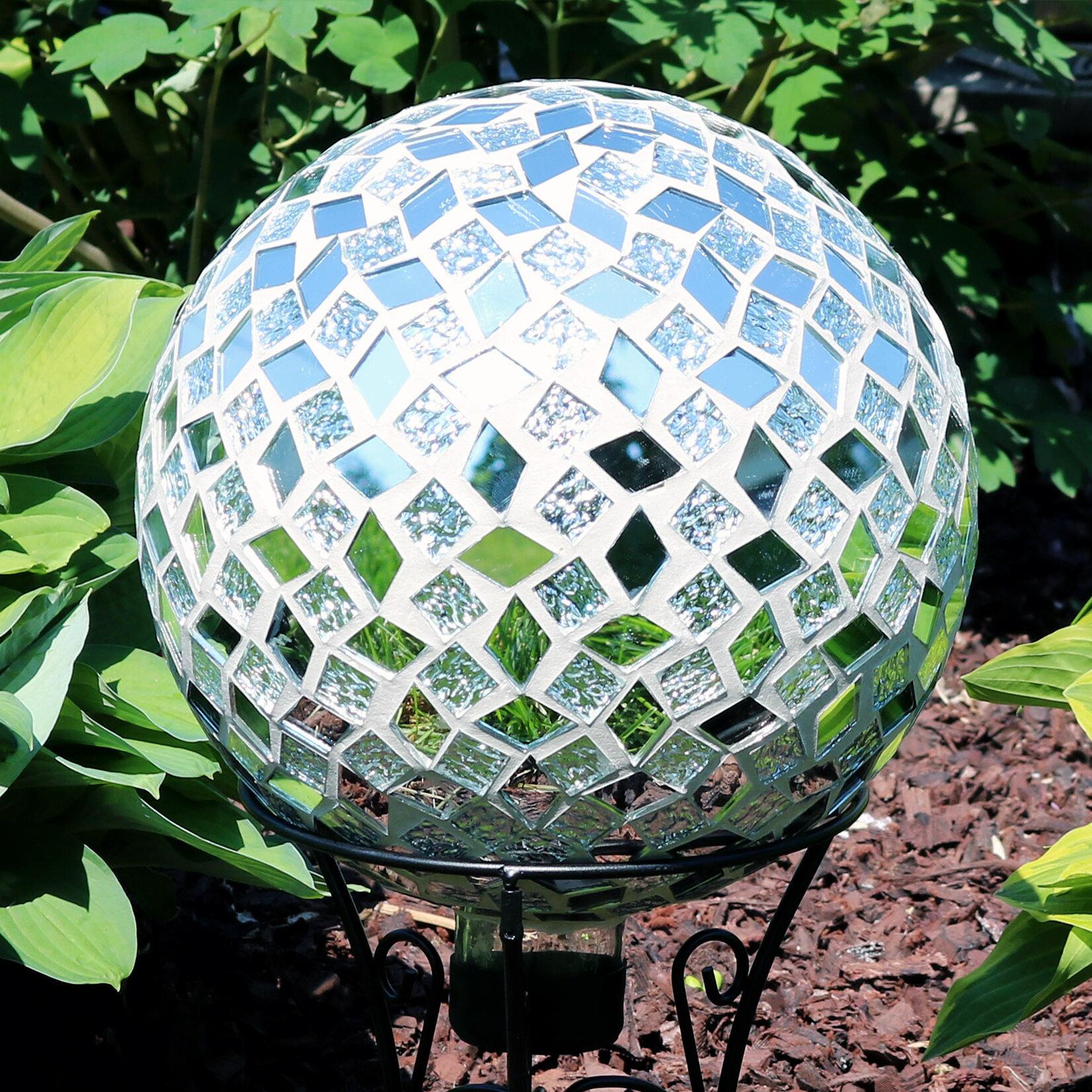 World Menagerie Nickerson Mosaic Gazing Ball Reviews Wayfair