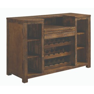 Rodriguez Wooden Bar with Wine Storage by 17 Stories