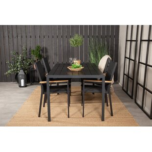 Hiran 4 Seater Dining Set By Sol 72 Outdoor