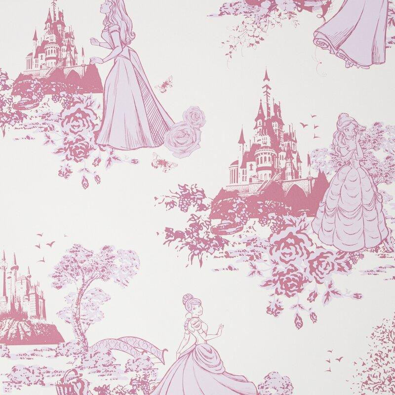 Disney Princess Princess 10m X 52cm Matte Wallpaper Roll Reviews Wayfair Co Uk