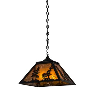Tall Pines 2-Light Square/Rectangle Pendant by Meyda Tiffany
