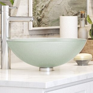 Translucence Glass Circular Vessel Bathroom Sink DECOLAV