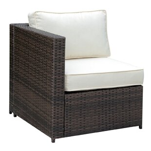 Middleburg Faux Rattan Right Arm Patio Chair with Cushions