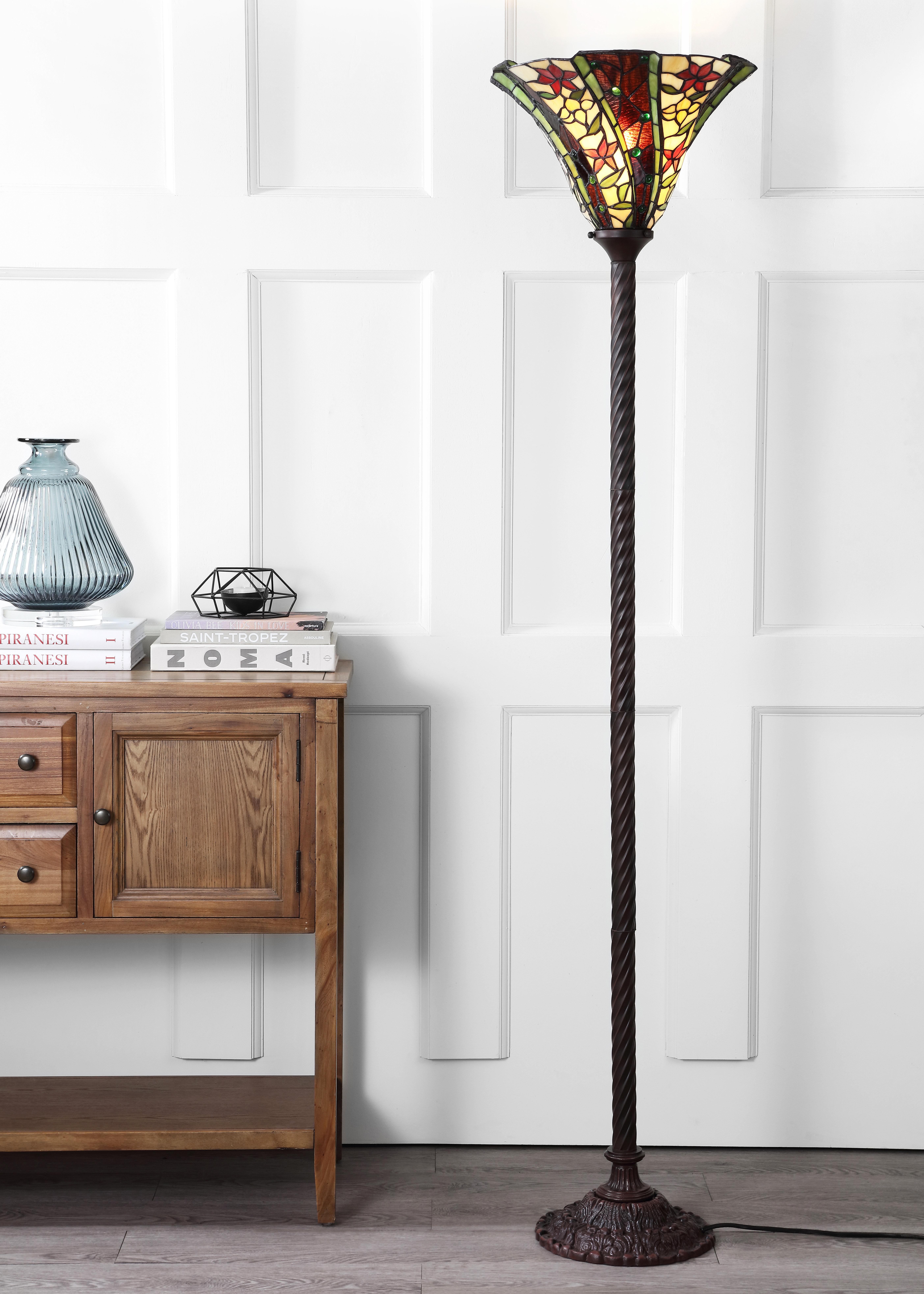 Loon Peak Orvis Tiffany 71 Torchiere Floor Lamp Wayfair