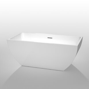 Rachel 59 x 30 Freestanding Soaking Bathtub by Wyndham Collection