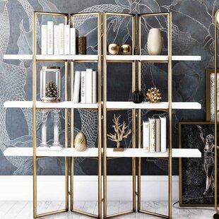 Ellenton Concrete Etagere Bookcase