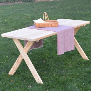 Loon Peak Roland Pine Cross-leg Picnic Table