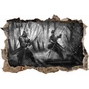 Discount Fight Between A Samurai And A Ninja Wall Sticker