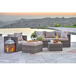 Rister 4 Piece Sectional Seating Group With Cushion