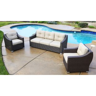 Tampa Standard 3 Piece Sofa with Cushion