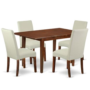 Deavers 5 Piece Extendable Solid Wood Dining Set by Winston Porter