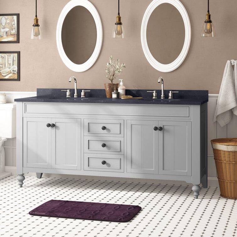 Lark Manor Dow 72 Double Bathroom Vanity Set Reviews Wayfair