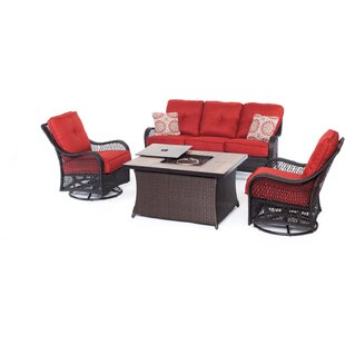 Luisa Outdoor 2 Piece Sofa Seating Group with Cushions by Longshore Tides