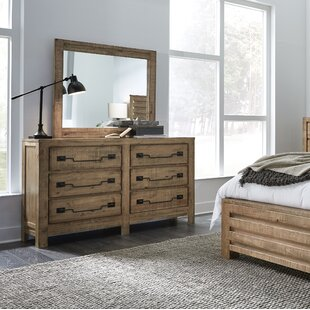 Windsor 6 Drawer Double Dresser with Mirror