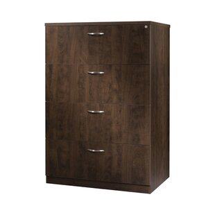 Laminate Lateral File 4-Drawer Vertical Filing Cabinet by Trendway