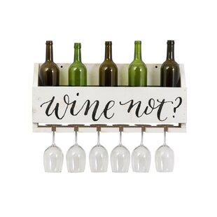 Truluck Wine Not? 4 Bottle Wall Mounted Wine Rack
