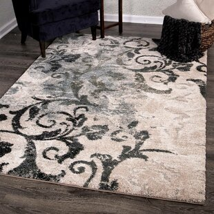 Reviews Lemmons Distressed Muted Beige/Black Area Rug By Red Barrel Studio