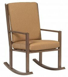 Woodlands Large Rocking Chair with Cushions by Woodard