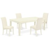 Galata 5 Piece Extendable Solid Wood Dining Set by Winston Porter