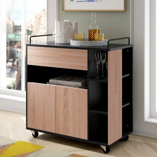 Grafton Kitchen Trolley With Wood By 17 Stories