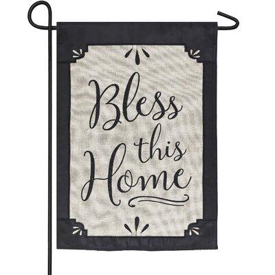 Evergreen Flag & Garden Bless This Home 2-Sided Polyester 1'6 x 1 ft. Garden Flag