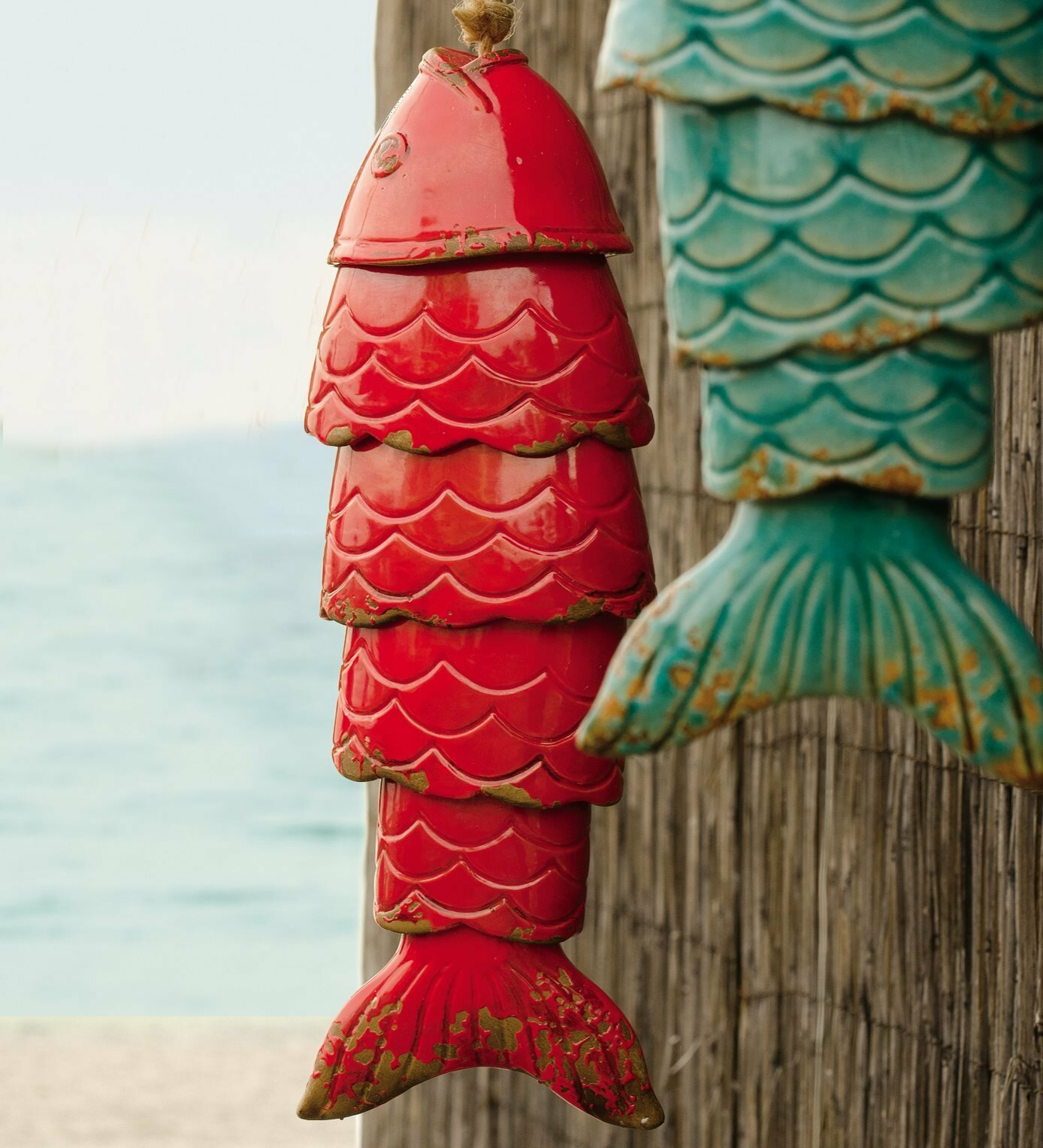 Wind Amp Weather Colored Porcelain Koi Fish Wind Chime
