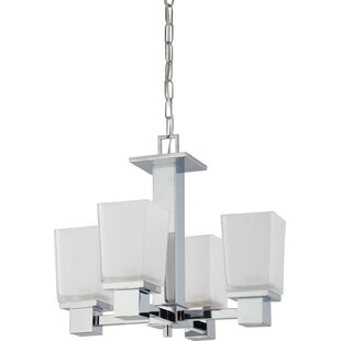 Ebern Designs Edington 4-Light Shaded Chandelier