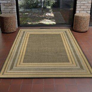 Clatterbuck Etched Gray Indoor/Outdoor Area Rug