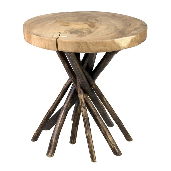 Solid Wood Tree End Table