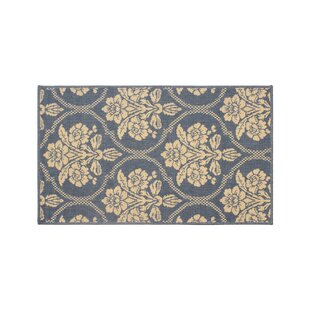 Jaya Tatton in Chain Blue/Beige Indoor/Outdoor Area Rug