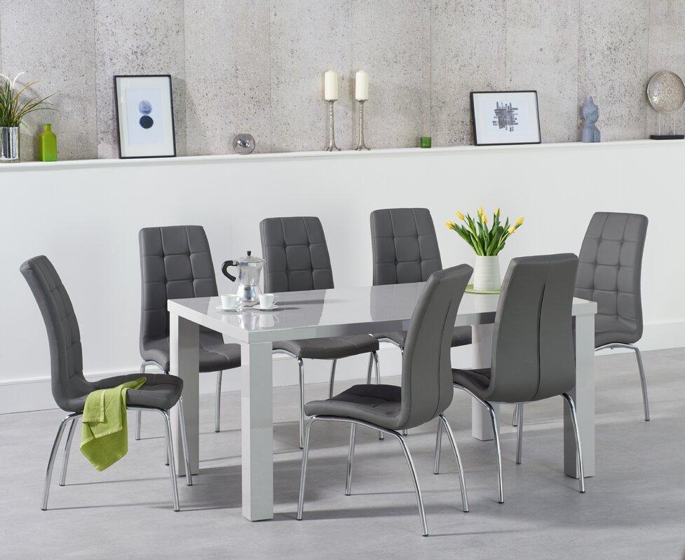 orren ellis essgruppe petegem mit 6 st hlen bewertungen. Black Bedroom Furniture Sets. Home Design Ideas