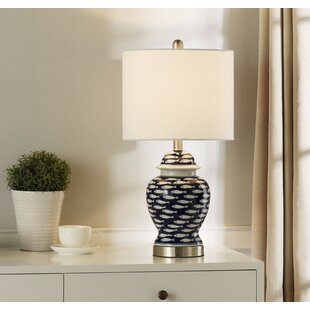 Gentry School of Fish Curved 23'' Table Lamp by Rosecliff Heights