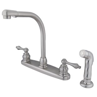 Kingston Brass Victorian Double Handle Kitchen Faucet with Optional Side Spray
