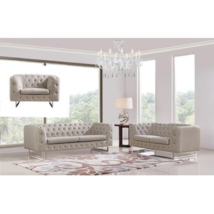Bargain Cana 3 Piece Living Room Set by Orren Ellis Reviews (2019) & Buyer's Guide