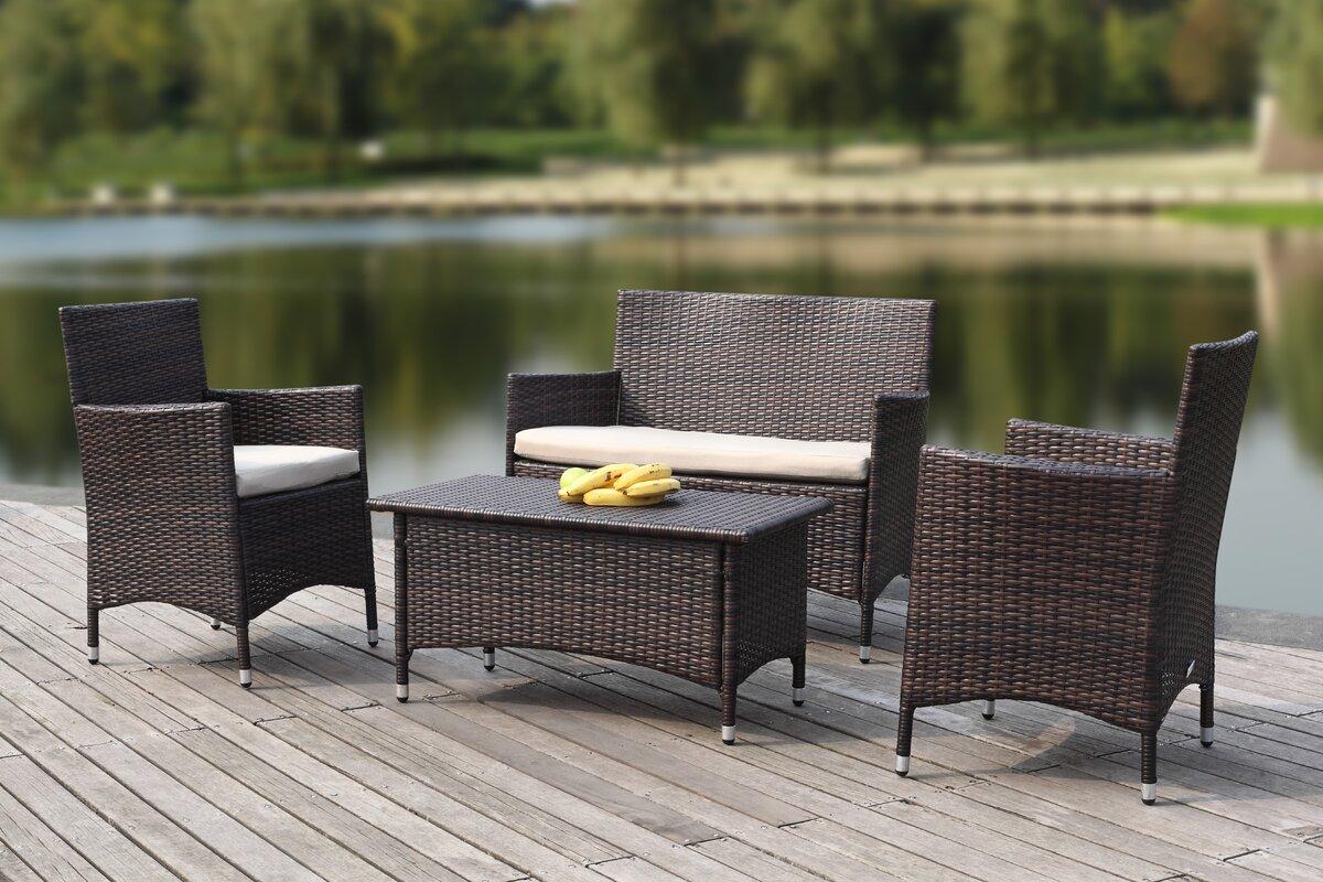 safavieh 4 tlg sofa set samana mit kissen bewertungen. Black Bedroom Furniture Sets. Home Design Ideas