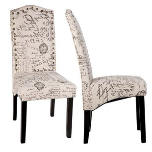 Wachapreague Script Upholstered Dining Chair (Set of 2)