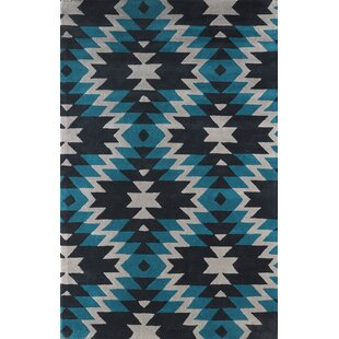 Buy Alverstone Hand-Tufted Teal/Black Area Rug By Loon Peak