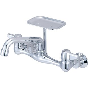Central Brass Double Handle Kitchen Faucet with Soap Dish