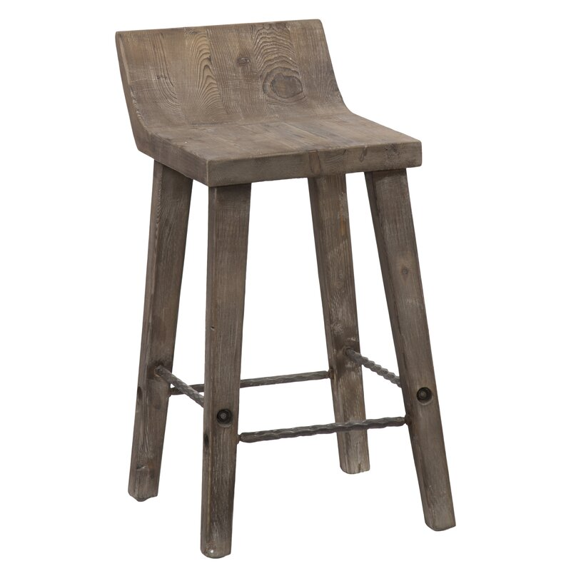 Feinberg Solid Wood Counter Stool