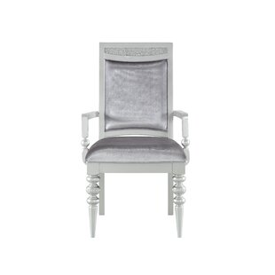 Ohatchee Arm Chair in Platinum Set of 2 by Rosdorf Park