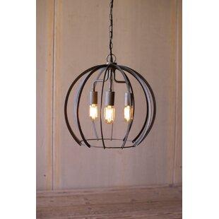 Williston Forge Rounds 3-Light Globe Pendant