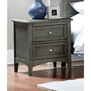 Fontanez Wooden 2 Drawer Nightstand by Highland Dunes