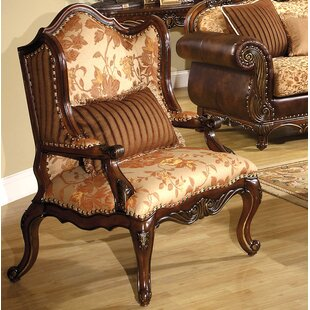 A&J Homes Studio Bonded Fabric Wing back Chair